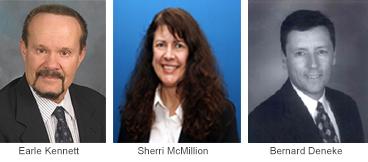 Earle Kennett, Sherri McMillion and Bernard Deneke